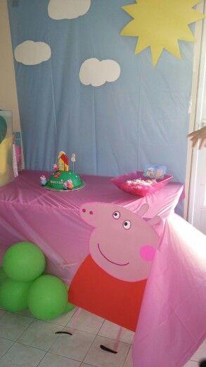 Sencilla Decoracion De Peppa Pig Peppa Pig Birthday Pinterest