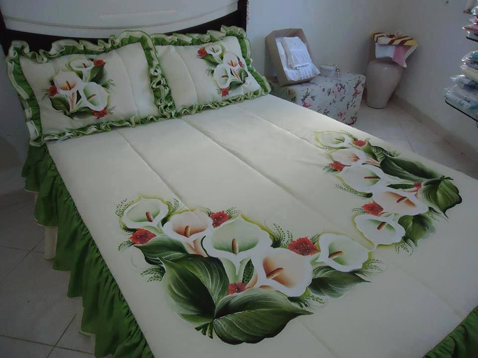 Hand Painted Beautiful Bed Sheet Painting Design Painted Beds