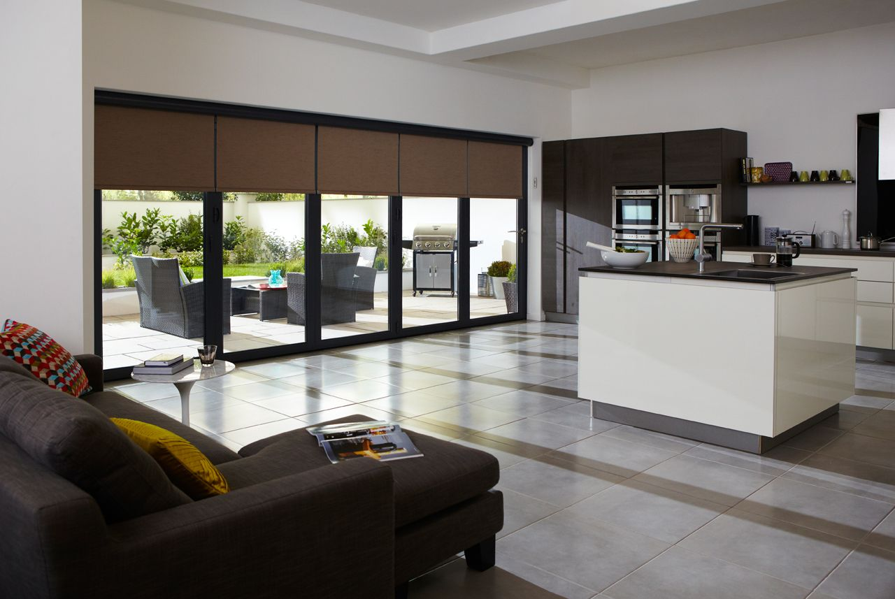 Roller Blinds For Kitchens Roller Blinds For Bi Folding Doors And Sliding Doors Vision Door