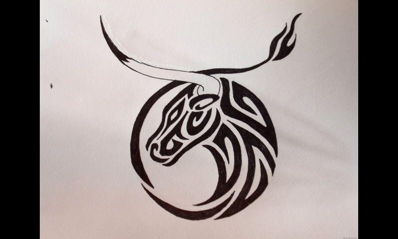 Taurus Zodiac Tattoos 14787 Tribal Taurus Tattoo Designs Zodiac