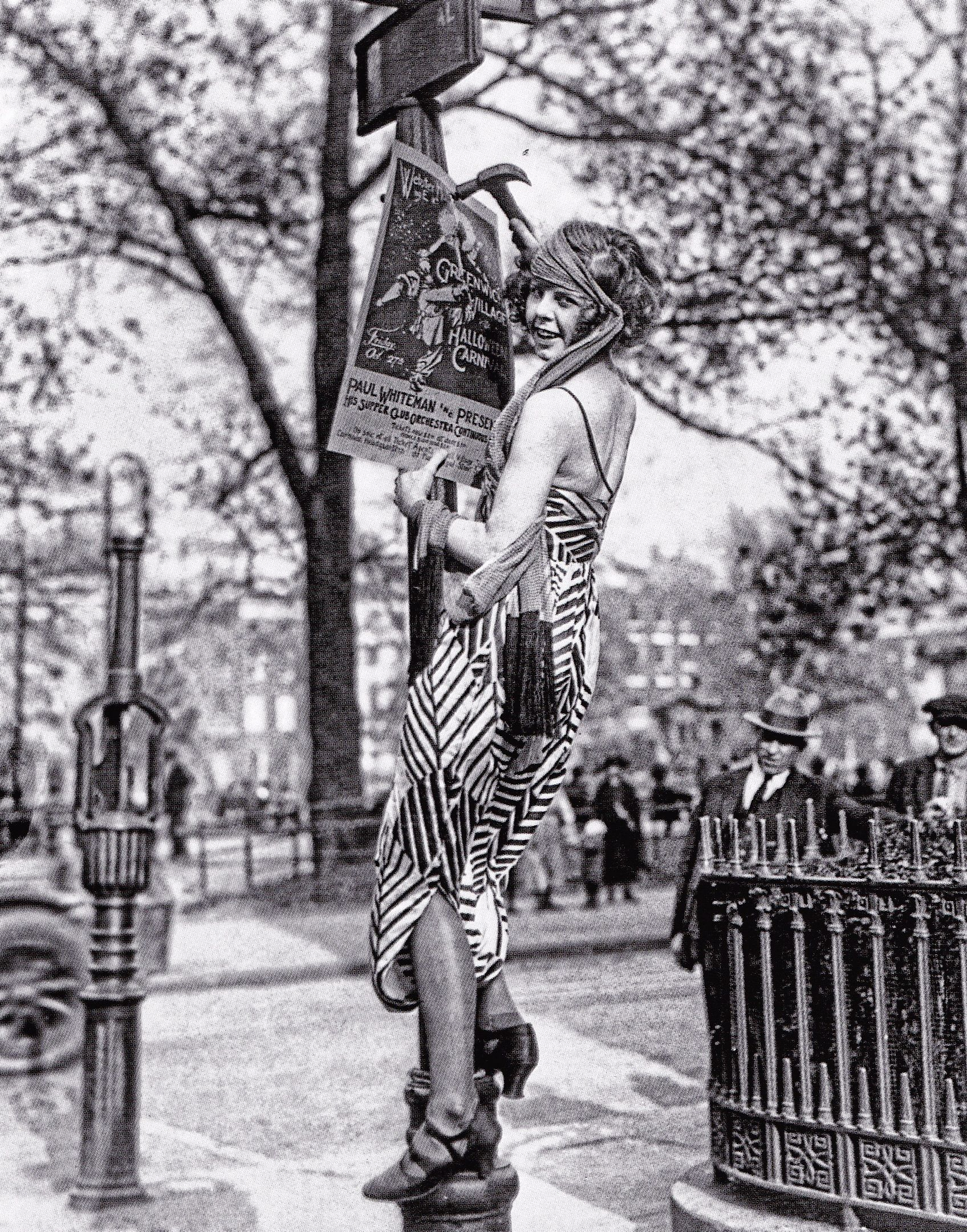 Nyc S Greenwich Village Flapper Girl From The Roaring Twenties Hanging Up A Poster In