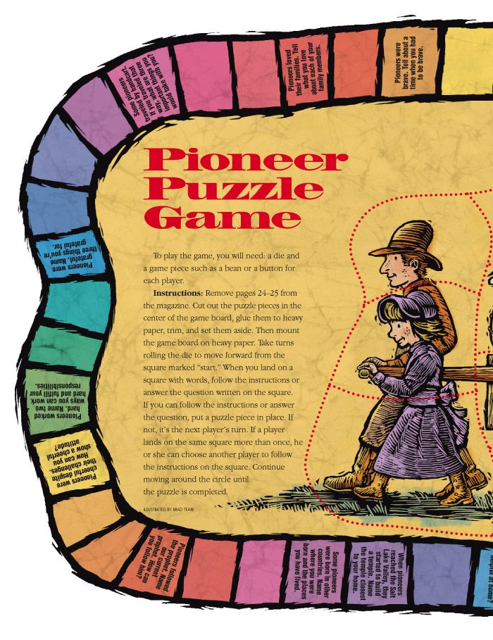 LDS Pioneer Puzzle Game / Primary, FHE LDS Church Stuff
