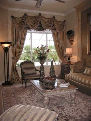 Drapery Designs For Living Room Inspiration Debbie's Drapery & Design Studio Of Naples Florida Inspiration Design