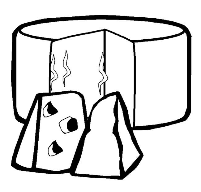 Two Slice Cheese Coloring Page Action Man Coloring Page Cheese Coloring Pages