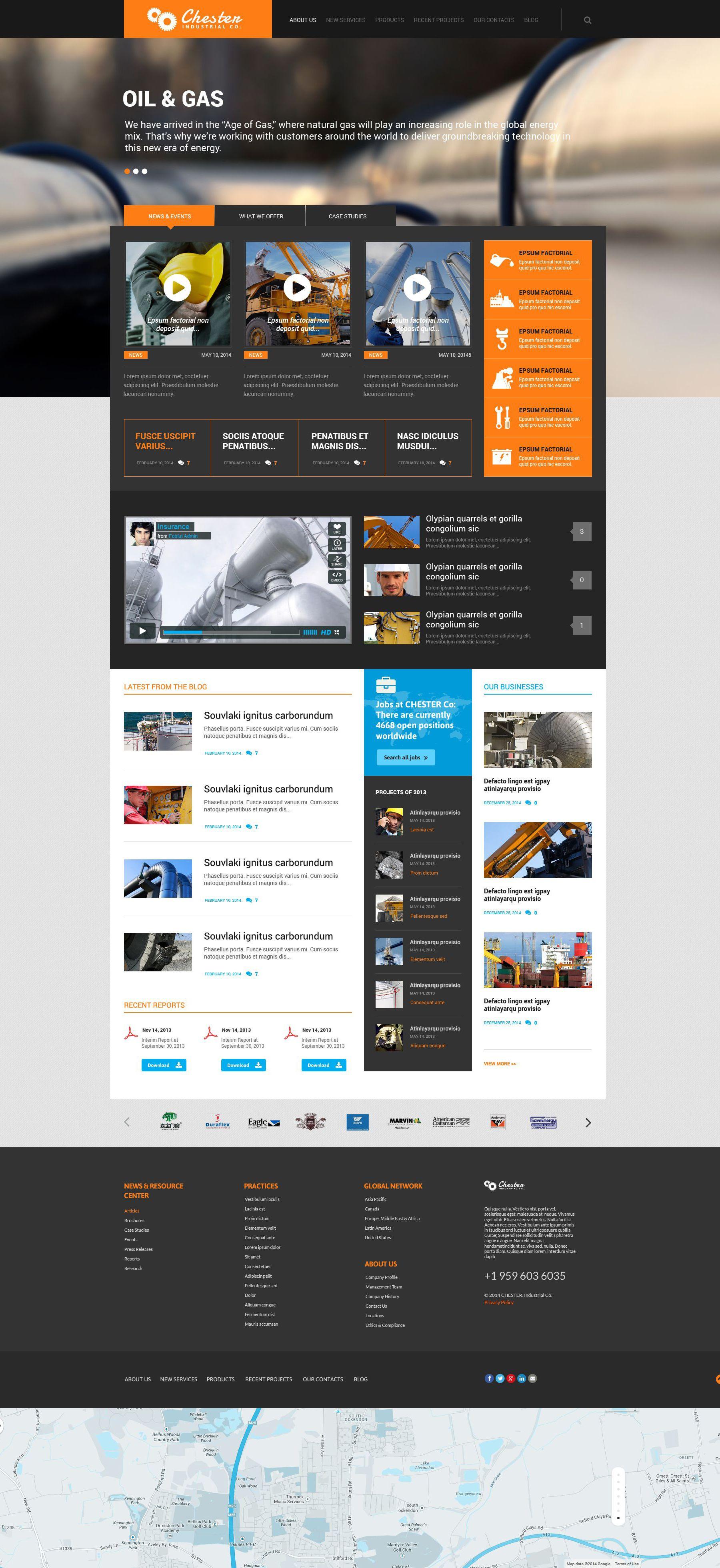 LIVE DEMO: Website Design Template 52370: company