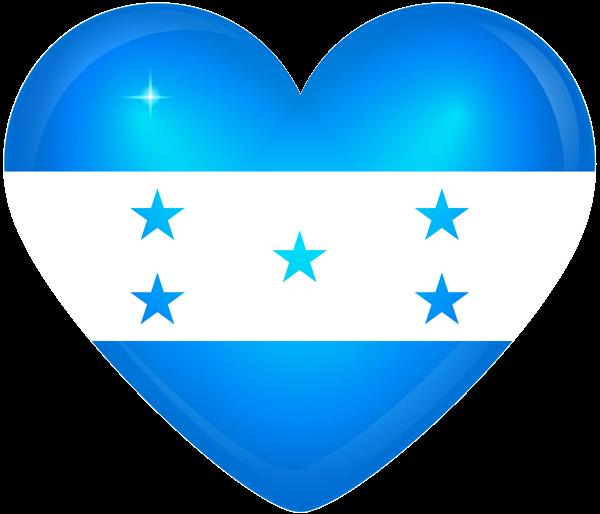 Honduras Large Heart Flag Flag National Flag Honduras