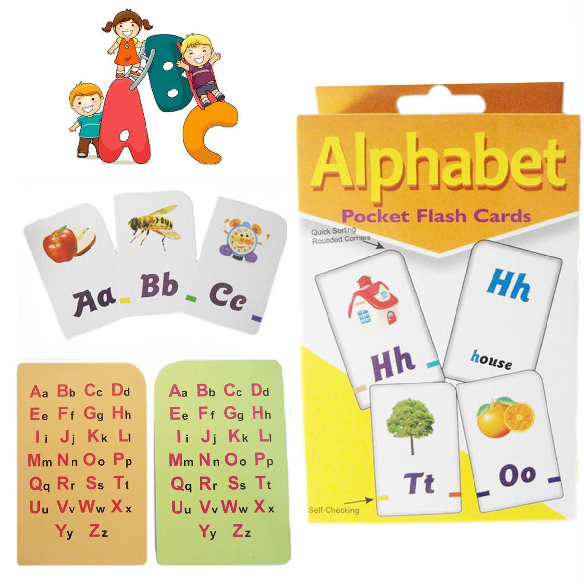 £2.65 GBP - A-Z Alphabet Flash Cards Kid's Learning Playing Game Card Children's Activity Pk #ebay #Collectibles
