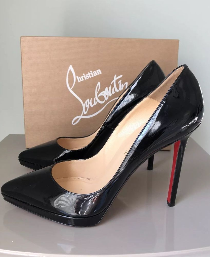 finest selection cbb92 f170f AUTHENTIC CHRISTIAN LOUBOUTIN PIGALLE PLATO PLATFORM BLACK ...