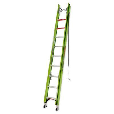 Little Giant 20 Hyperlite Type Iaa Extension Ladder W V Bar And Cable Hook Green Little Giants Ladder Extensions