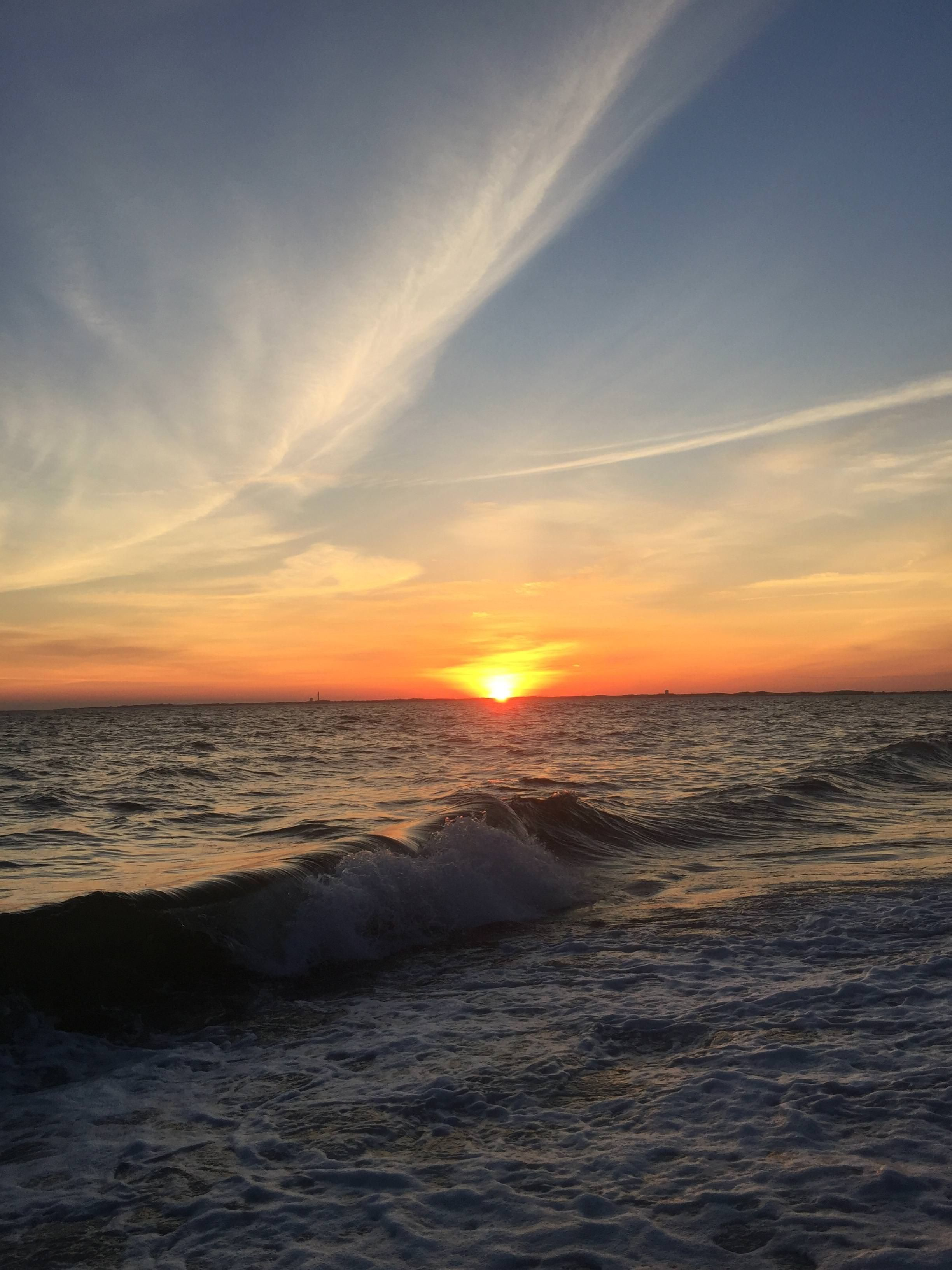 A Sunset On The Water In Cape Cod Ma Oc Sunset Nature Photography Cape Cod