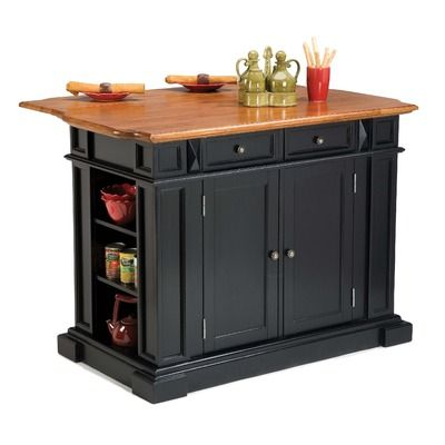 "Kitchen Island 36 X 48 home styles 36"" x 48"" kitchen island in rich multi step ebony"