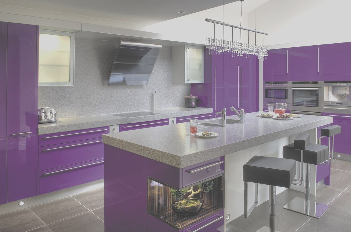 13 Unique Purple And Grey Kitchen Ideas Image In 2020 Purple Kitchen Interior Purple Kitchen Kitchen Colors