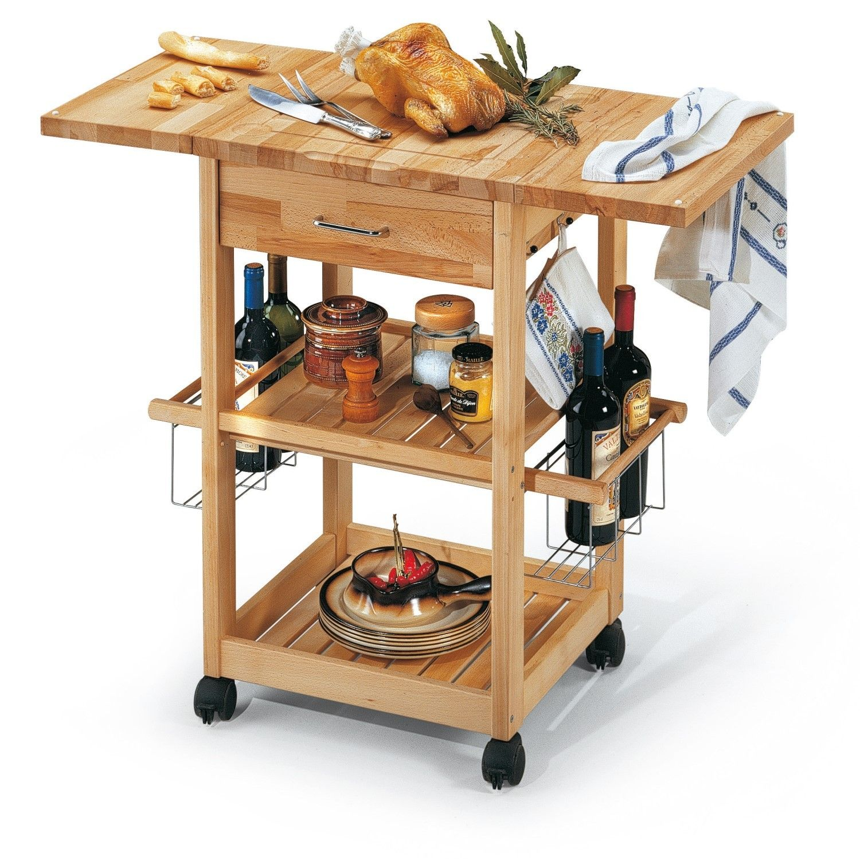 carrello portavivande gourmet in legno da aperto metti