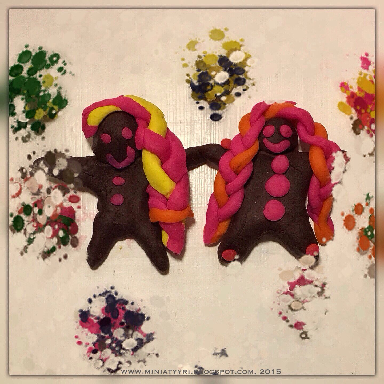 Piparkakku-ukkoluonnos - Gingerbreadman draft