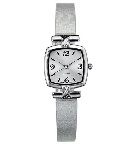 SPECIAL OFFER  Womens Watch Sale - 2 for $35! Mix or match select styles.   Metallic Strap Square-Faced Watch  804-293