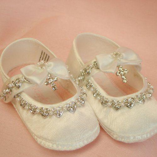 7f0525443 Bautizo de marfil o blanca de zapatos de bebé y por TIGERLILYKITTEN
