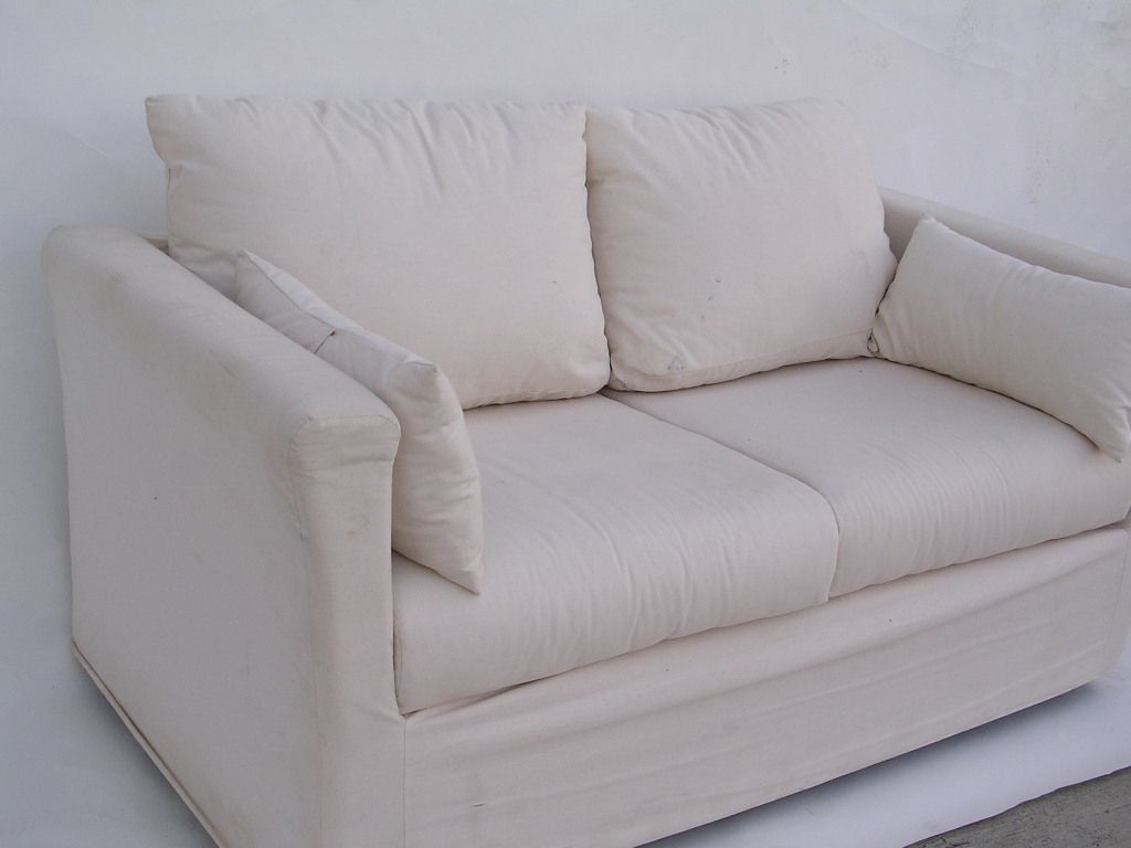 Superbe Nice White Canvas Sofa , Inspirational White Canvas Sofa 24 About Remodel  Living Room Sofa Ideas
