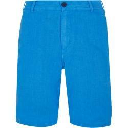 Herren Ready to Wear – Gerade geschnittene Solid Leinen-Bermudashorts für Herren – Bermuda – Baron – Spring Outfit