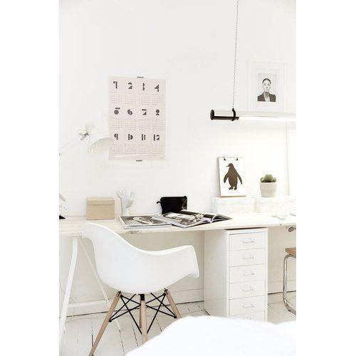 Eames daw stuhl in wei home sweet home pinterest for Eames schreibtischstuhl