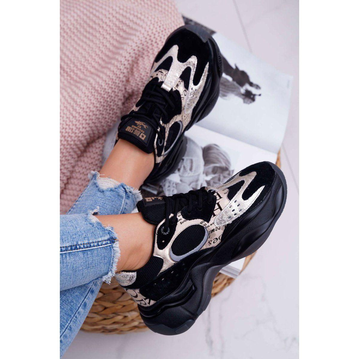 Damskie Sportowe Obuwie Big Star By Daniel Lopez Czarno Zlote Ff274a524 Czarne Zolte Bow Sneakers Sneakers Nike Shoes