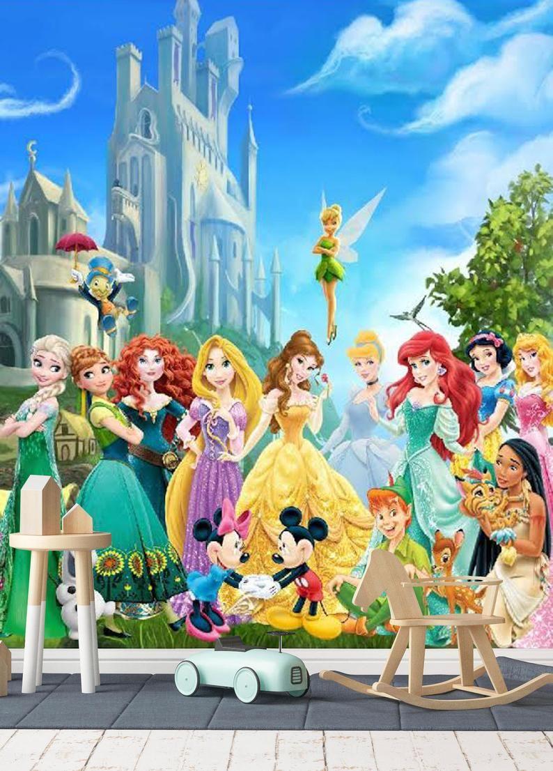 Disney Characters 2 Wall Mural Disney Princess Wallpaper