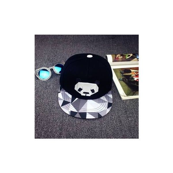 Unisex Fashion Panda Pattern Baseball Cap Adjustable Snapback Hip-Hop... (£4.02) ❤ liked on Polyvore featuring accessories, hats, hats & caps, white, adjustable baseball hats, baseball cap, baseball caps hats, adjustable hats and panda hat