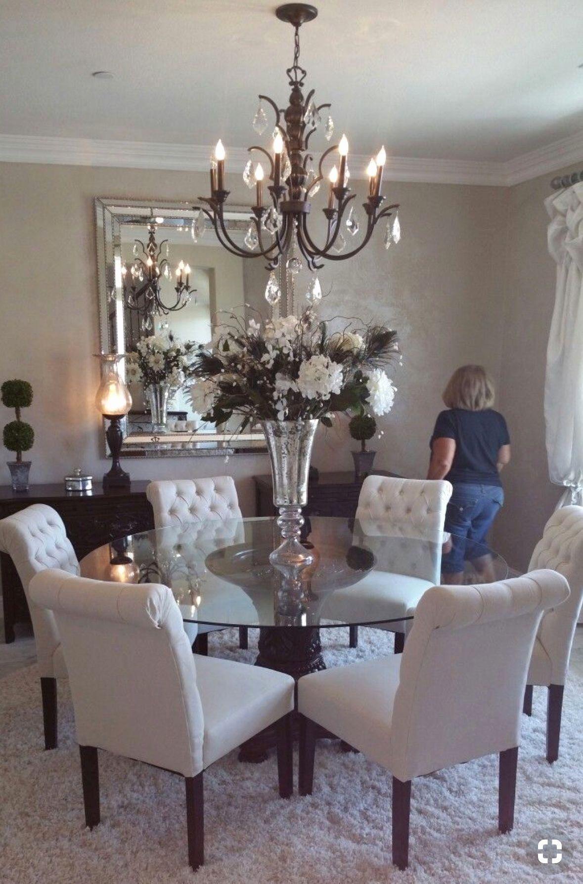 Pin By Hollie Fletcher4 On Kitchen Round Dining Room Dining Room Table Decor Dining Room Design