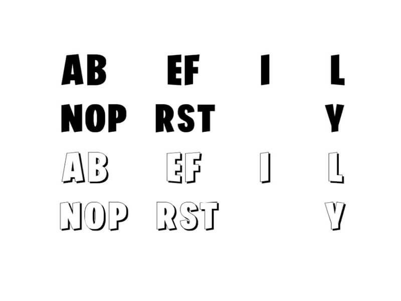 Download Similar fortnite font