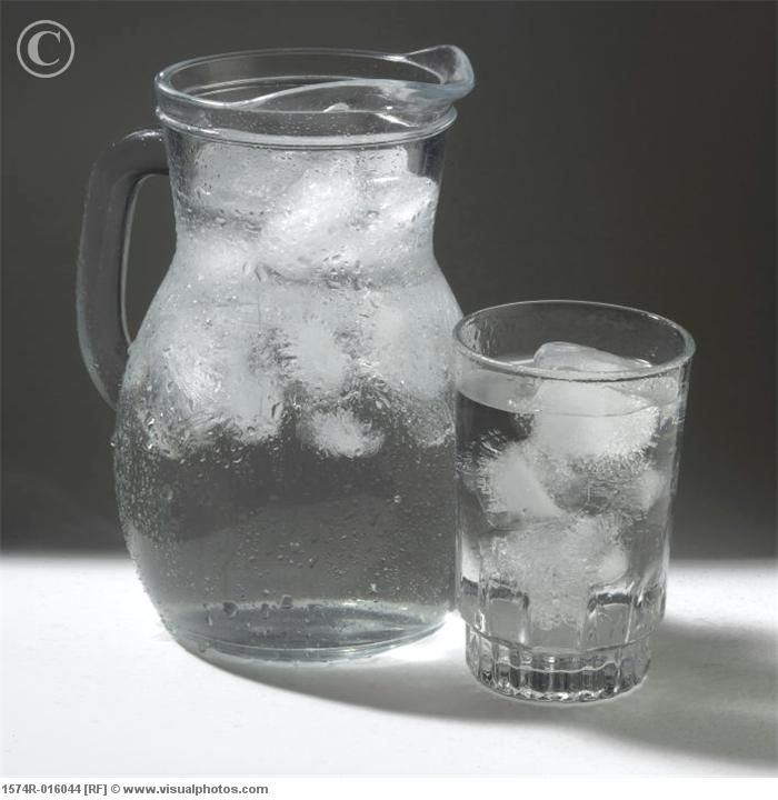 Something so appealing with a nice glass of ice water ...