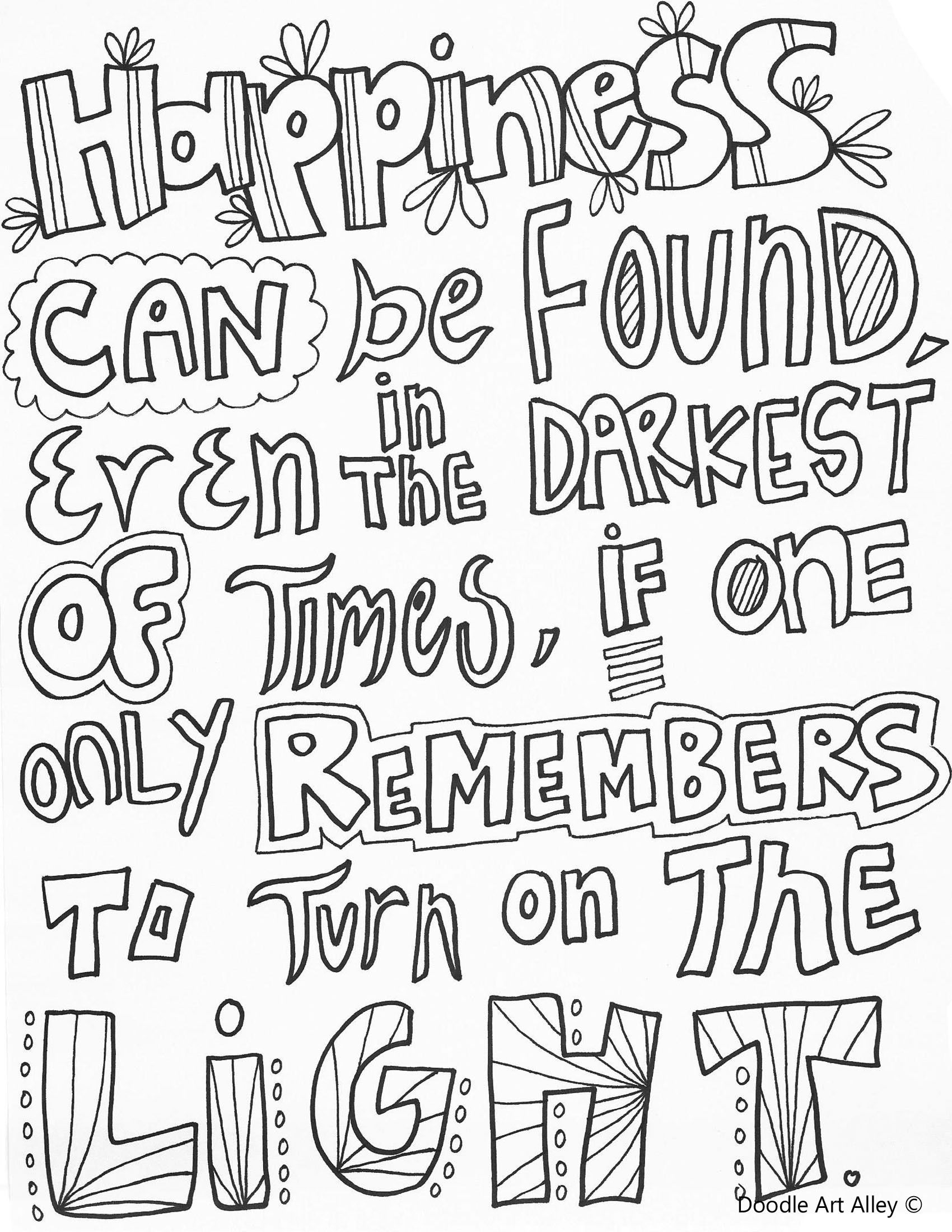 Pin On Colouring Pages Quotes [ 2200 x 1700 Pixel ]