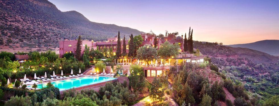 Luxury Morocco Hotels Dusk At Kasbah Tamadot