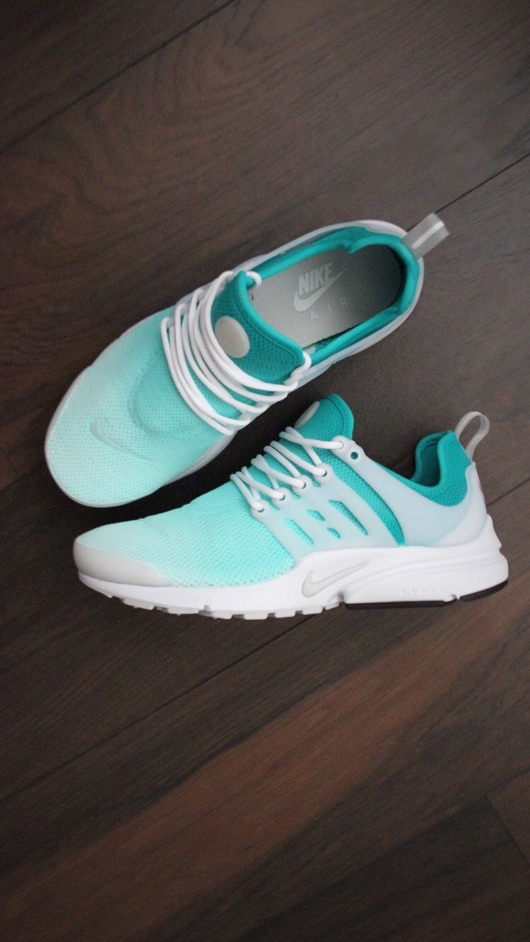 the latest 9ab4a 1bdcf Custom painted Turquoise Ombré Women s Nike Air Presto Running Sneaker.