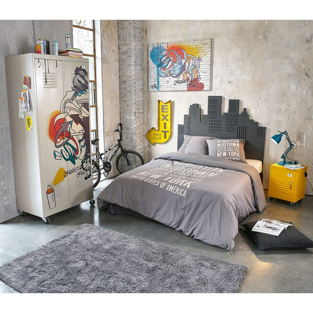 Chambre Ado New York Lienzo Grafiti Multicolor 80x110 Dormitorios Chambre New