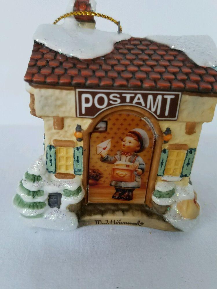 M.J. Hummel Bavarian Village Collection Christmas Mail Postamt Ornament No Box