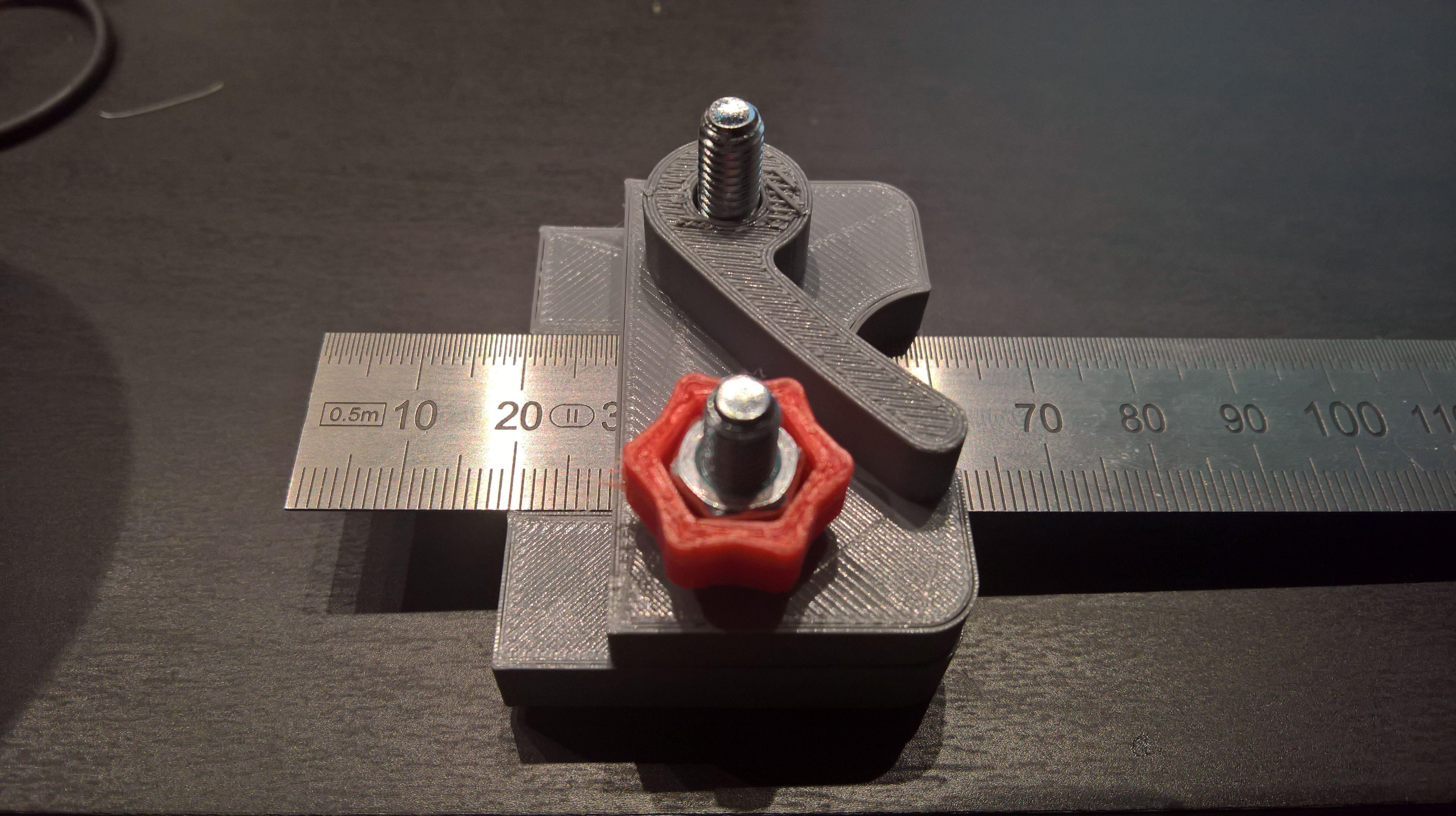 Linealanschlag für StahlLineal aus dem 3DDrucker 3d
