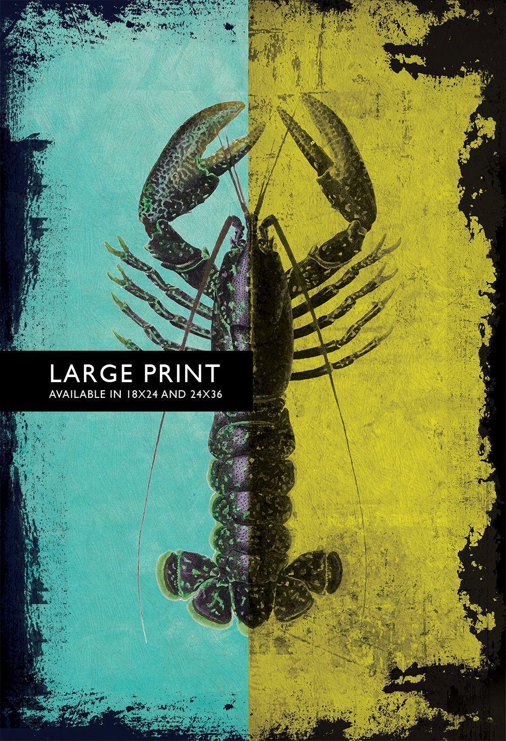 Vintage Lobster Print 18x24\