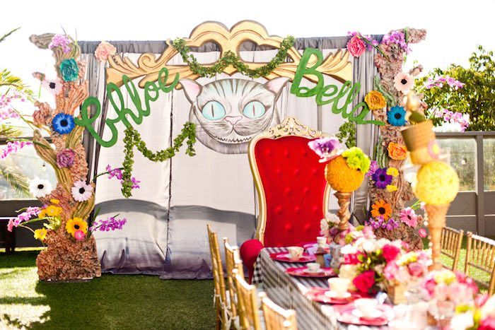 Alice in Wonderland Birthday Party Cheshire Cat Approved