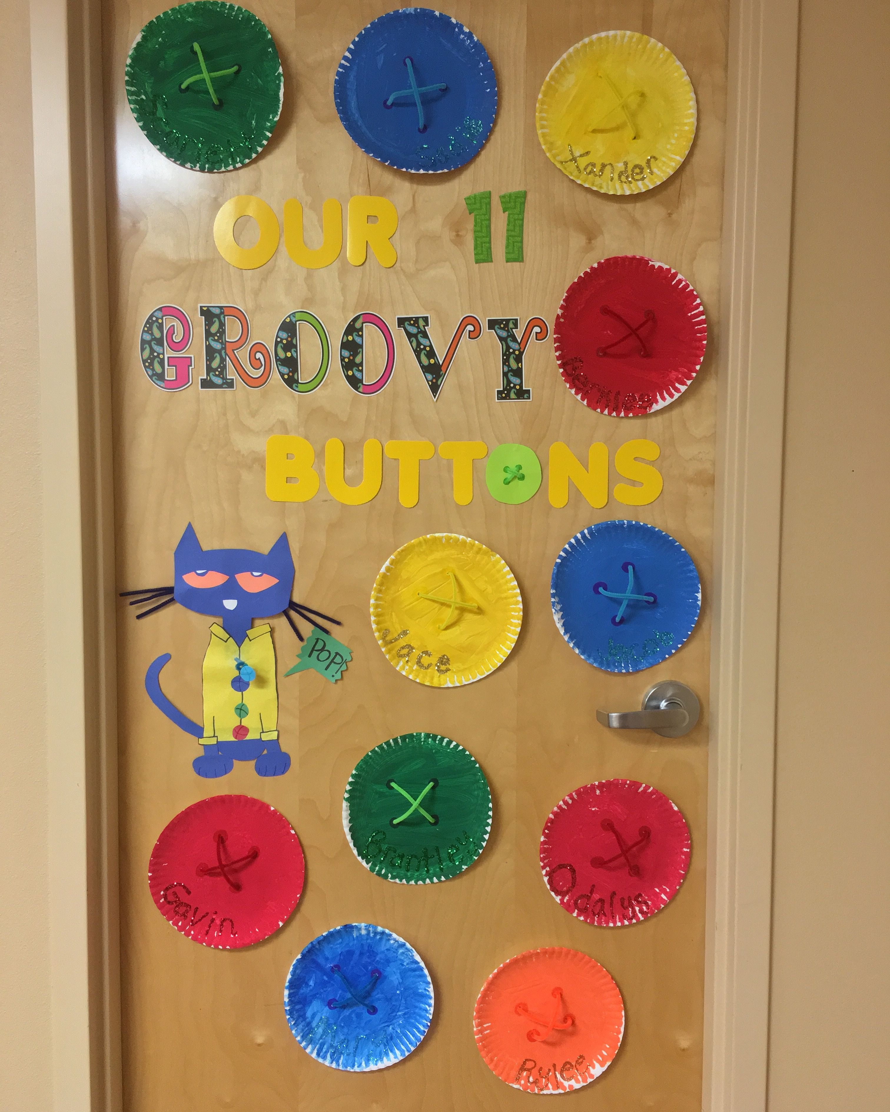 Pete The Cat And His Four Groovy Buttons Classroom Door