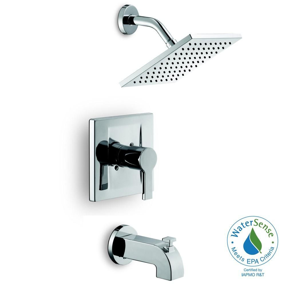 Glacier Bay Modern Single Handle 1 Spray Tub And Shower Faucet In