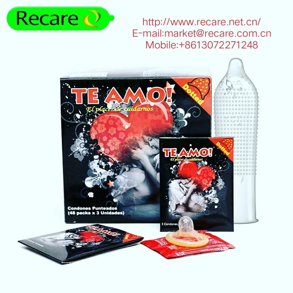 Te Amo Condoms Flavors Big Dotted Recare Condom Komdom Sutra Persachet Oem Product Design We Are Factory Sell Many Types Of