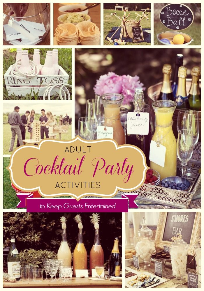 Cocktail Party Activities Adult Guests will actually Enjoy Party