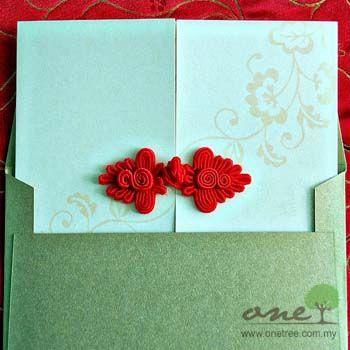 Oriental Themed Wedding Invitation One Tree Wedding Stationery