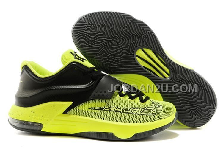 4d70806290e Nike Kevin Durant KD 7 Basketball Shoes Black Green
