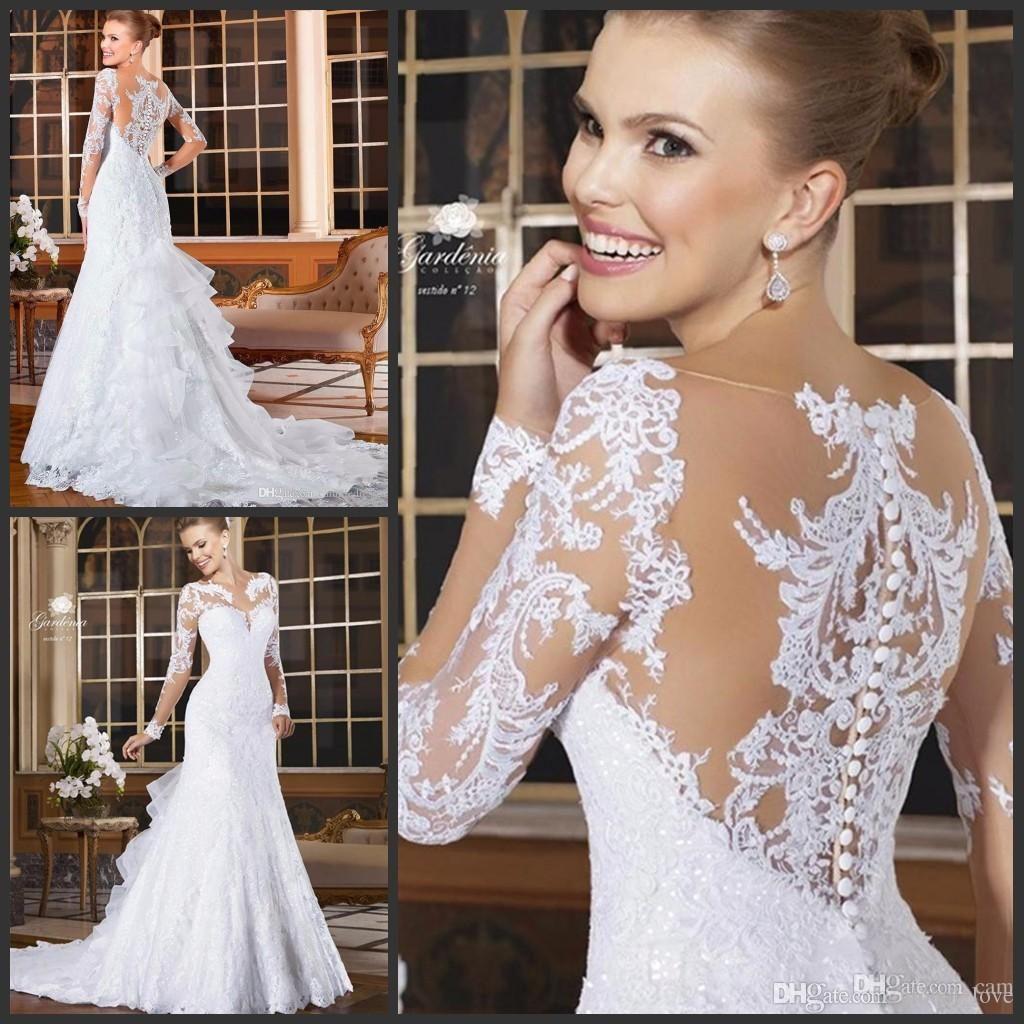 Fresh White Sequin Wedding Dress Check more at http://svesty.com ...