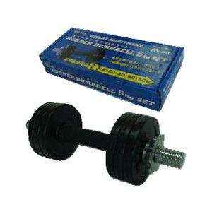 ライテック  MN104 ラバーダンベルセット 【5kg】…0.5キロ×4枚か