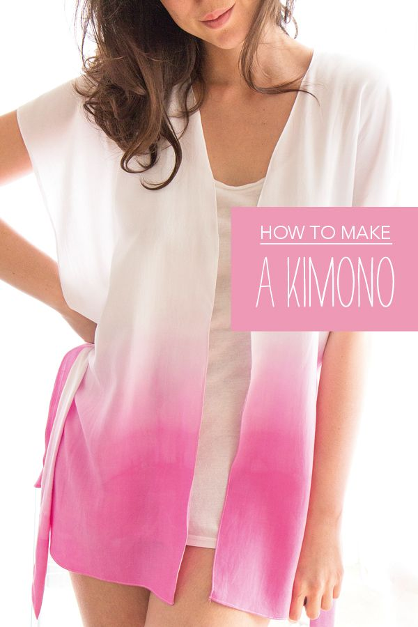 Free sewing pattern: How to dip-dye and sew a kimono   Sewing ...
