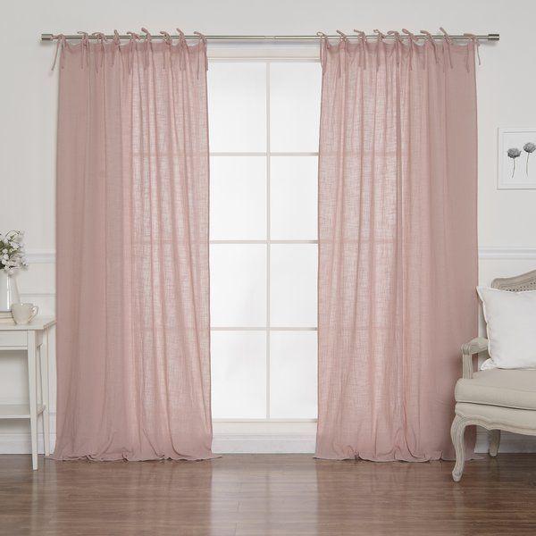 Nashville Cotton Gauze Solid Semi Sheer Tab Top Curtain Panels