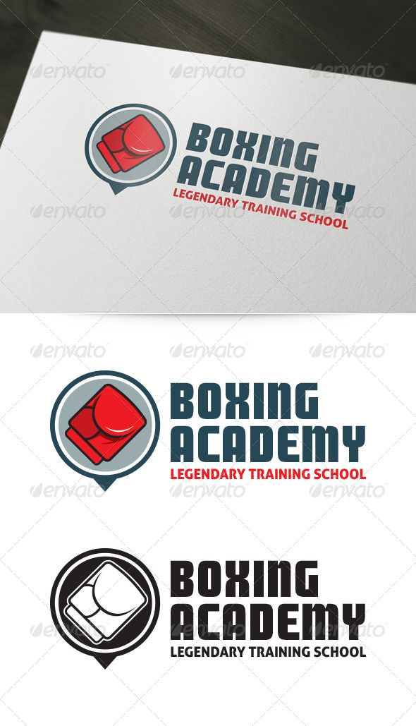 Boxing Academy Logo Graphicriver About The Template Is A Creative And Strong For Various Business Purposes Like
