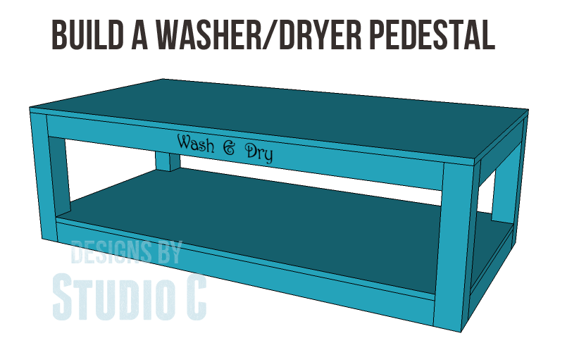 Free Plans to Build a Pedestal for a Washer & Dryer I did it... I broke down and bought a new washer and dryer. Admittedly, they were on their last legs - the dryer was taking at least two hour...
