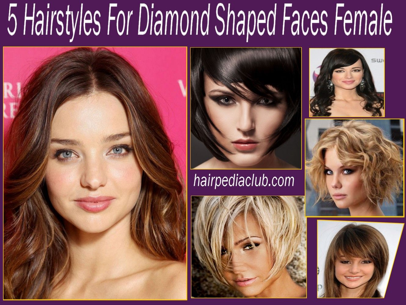 5 hairstyles for diamond shaped faces female | diamond face